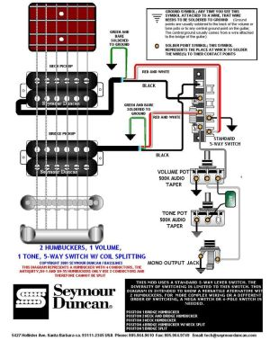 Wiring Diagram | PRS Dimarzio Seymour Duncan | Pinterest