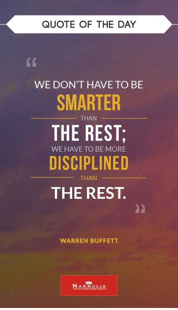 "Quote of The Day ""We don't have to be smarter than the ..."