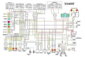 xs400F wiring diagram | Motorcycle wiring diagrams | Pinterest