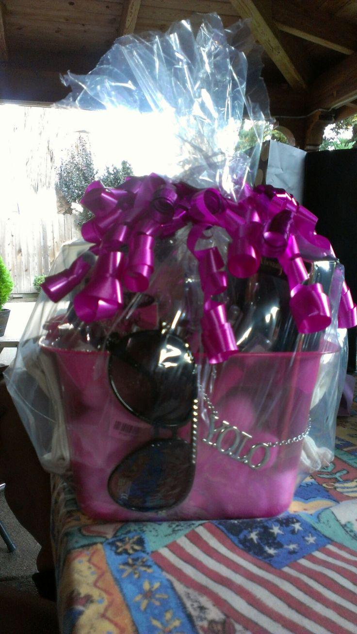 Beauty Basket For A Teenage Girl Sunglasses YOLO
