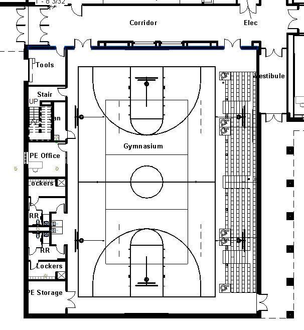 Elementary Basketball Court Layout