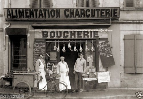 Ancien Commerce Boucherie Vlo Triporteur Toulouse Photo