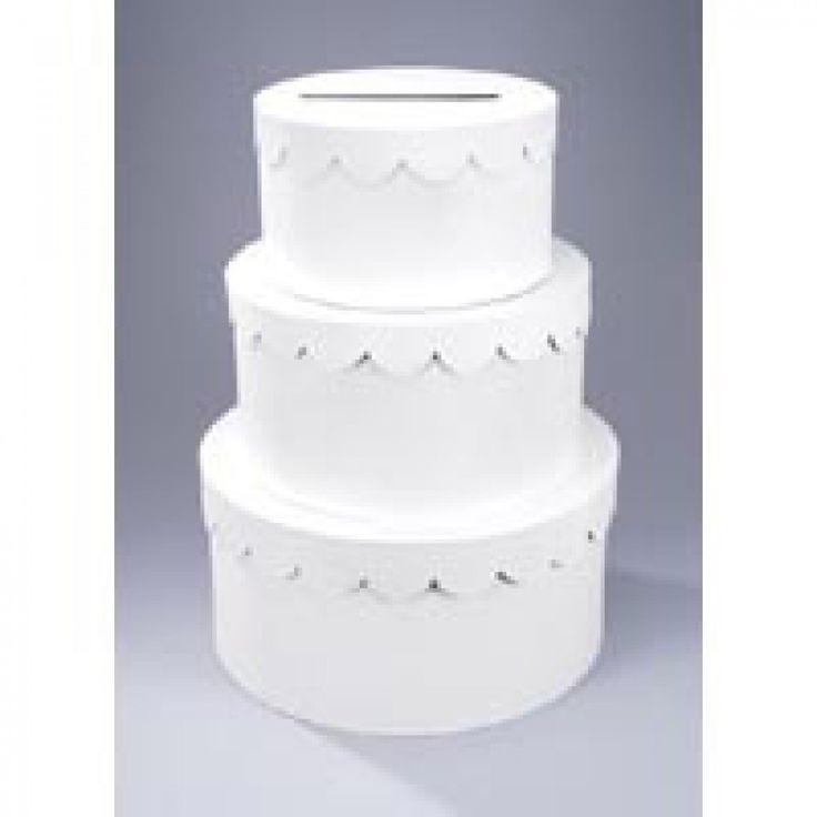 Primed White Paper Mache Cake Money Gift Box D2849 57