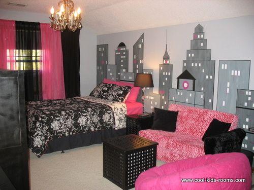 Black, Grey & Pink Room Decor