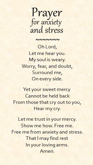 A simple prayer for anxiety and stress…. Don't you know I need this..