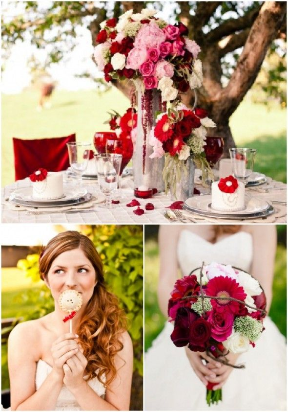 17 Best Ideas About Red Themed Weddings On Pinterest