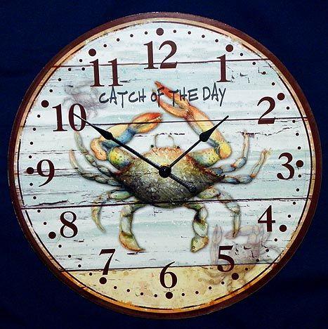 Crab Wall Clock Nautical Clocks Beach House