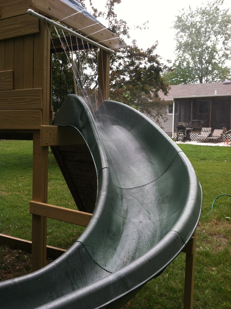 Homemade Water Slide Just Add A Pool At The End Of The