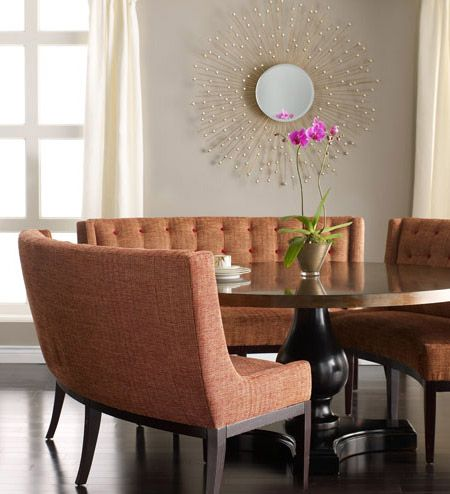 Curved Dining Banquette Curved Sofas Pinterest Taupe