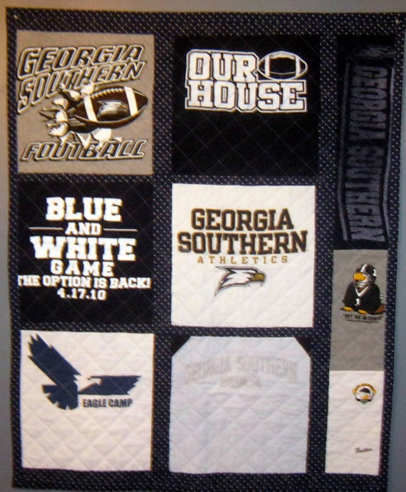 White Black Southern And Logo University Georgia