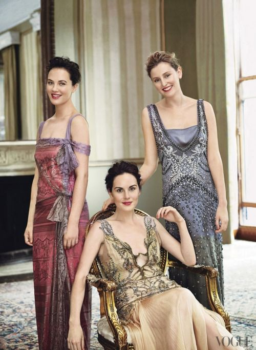 1920s fashion inspired – Downton Abbey casts. Just stunning! I love that era. Such elegance.