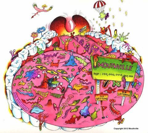 Resultado de imagen para mouth bacterias cartoon
