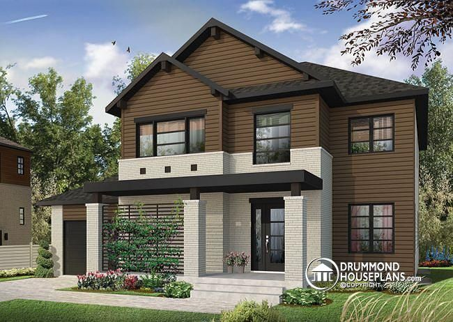 W3720 Modern 2 Y Home Plan With 4 Bedrooms Ensuite 3 Full Bathrooms Open Concept