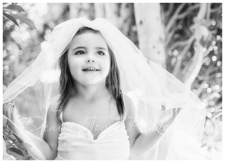 Children's Photography, Little Girl In Mom's Wedding Dress