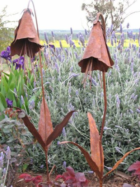 rusty metal flowers garden art Best 20+ Metal garden art ideas on Pinterest | Metal