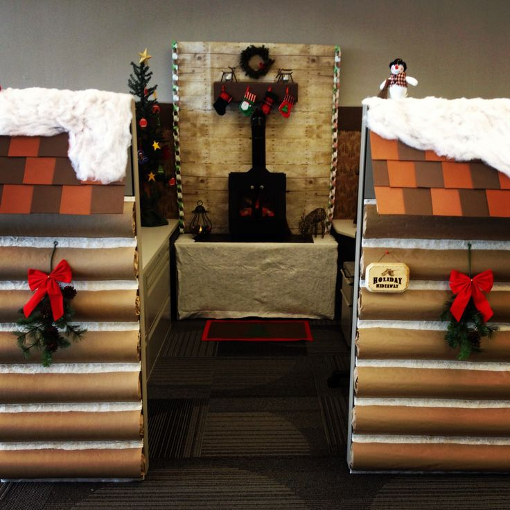 2013 Christmas Cubicle A Cozy And Rustic Quot Holiday