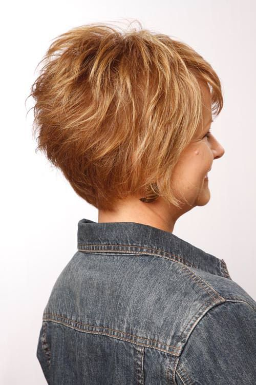 Honey Comb Layered Tousled Look Back View Hair