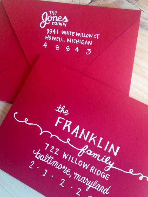 addressing envelopes.
