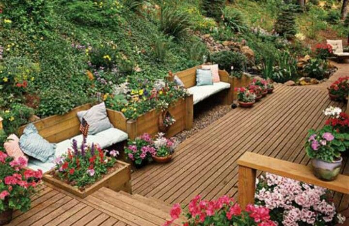 Valleycrest landscape maintenance florida, deck designs ... on Decking Ideas For Sloping Garden id=44324