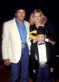 George Strait And Wife Norma And Young Son George Jr