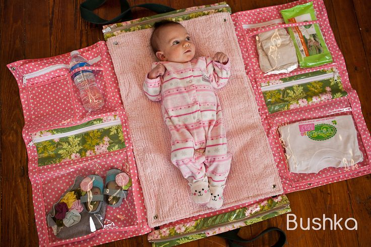 Great idea for a baby bag.