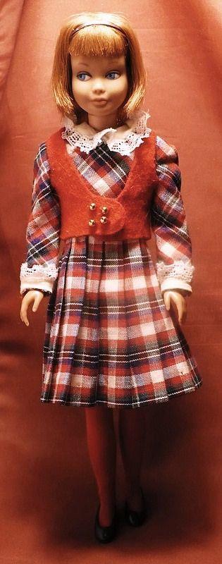 1960s Skipper Doll Wearing A Back To School Plaid Mad