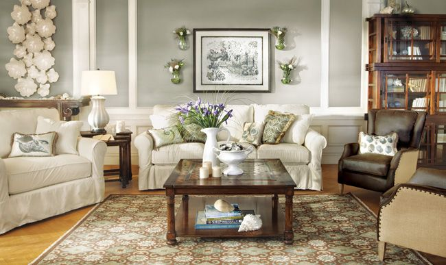 Living Room Furniture Product Slipcovered Living Room