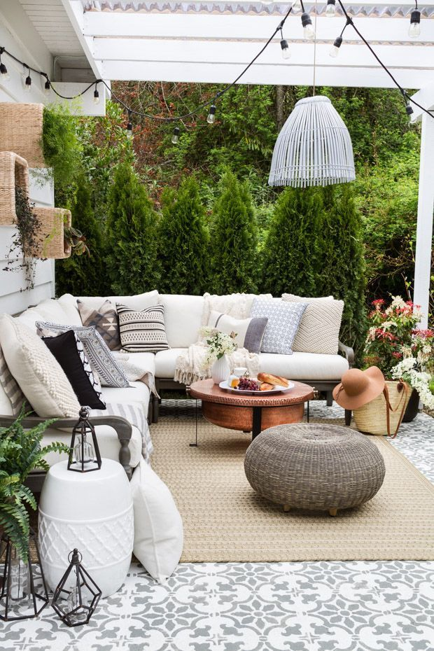 Perfect Patios: How to Create a Stunning Outdoor Space ... on Farmhouse Outdoor Living Space id=20508