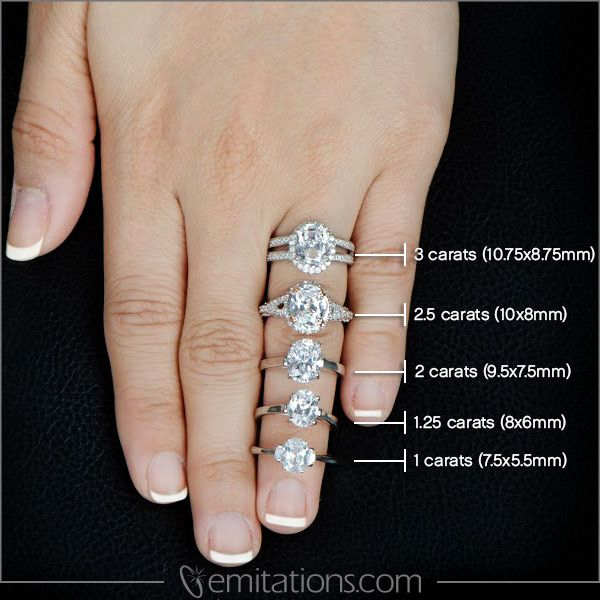 Fake Heart Shaped Diamond Rings