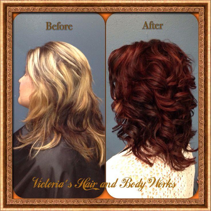Hair Color Blonde To Eggplant Mahogany Red Debating A