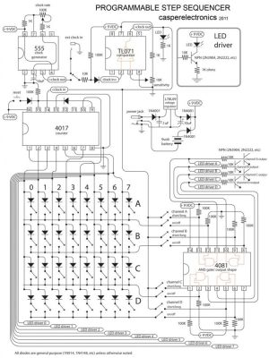 Programmable step sequencer | Electronic circuit | Pinterest