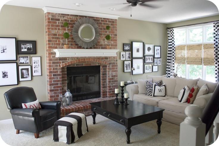 Living Room Decorating Walls Ideas Colored Brick