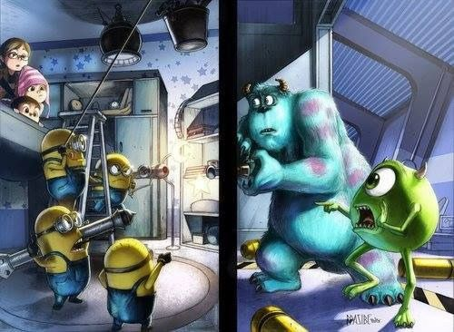 monsters inc and Despicable Me