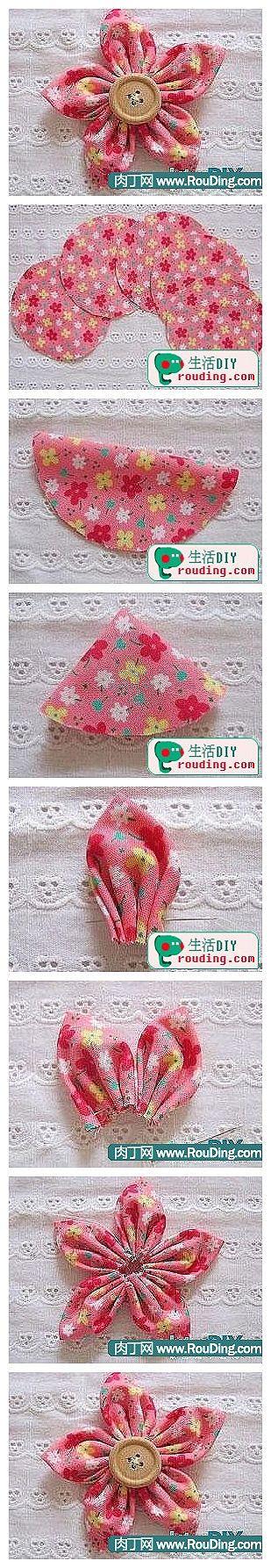 fabric flower tutorial. A g