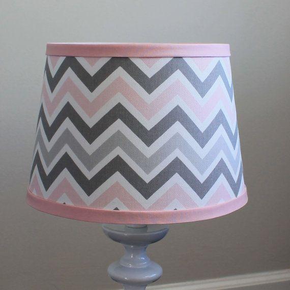 Small Pink Gray Chevron Lamp Shade Coloring Gray And Shades
