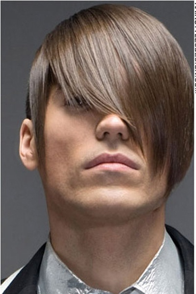 Sleek And Straight Hair With Bangs Mens Hair Trend