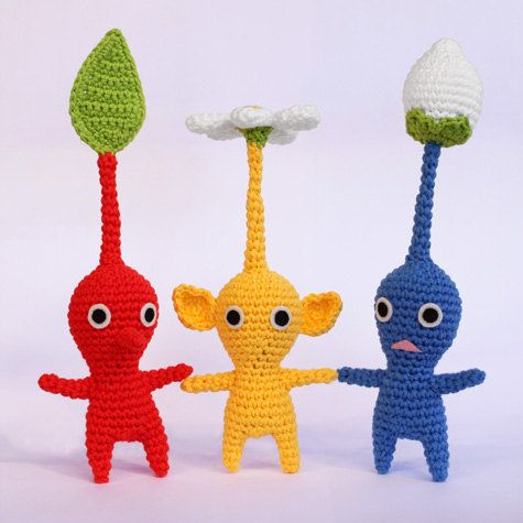 Pikmin crochet pattern… my 6 year old LOVES these little dudes!