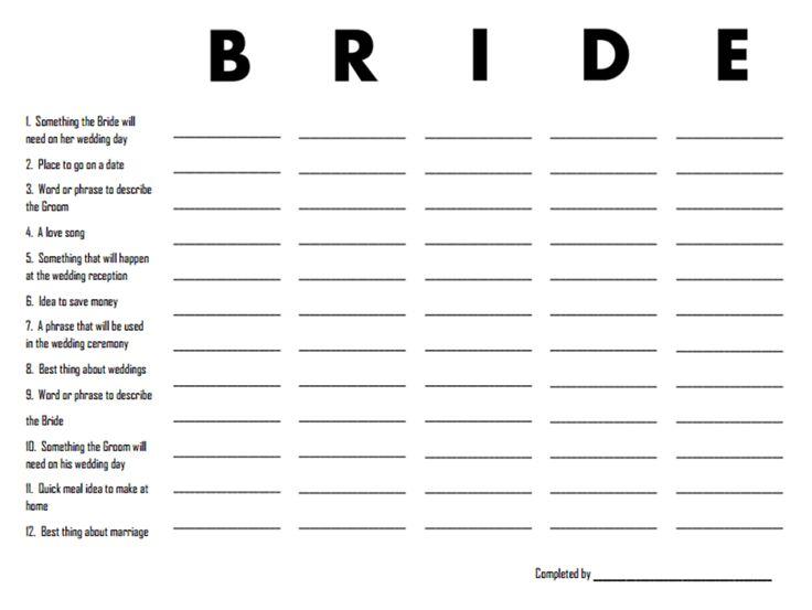 Craftivity Designs: Vintage Bridal Shower Games ( Free Printables)