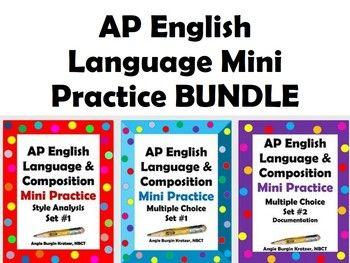 AP English Language Mini Practice BUNDLE (15 bell-ringer ...