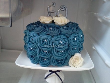 17 Best Images About Blue Fondant Cake Ideas On Pinterest