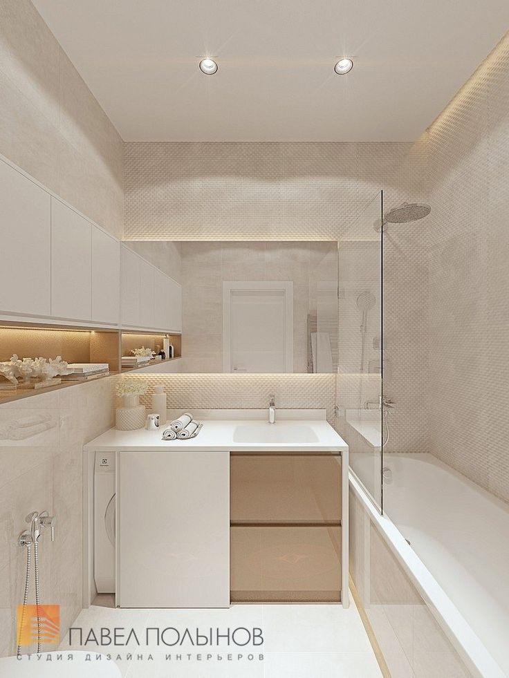 Фото Ванная комната Интерьер однокомнатной квартиры в