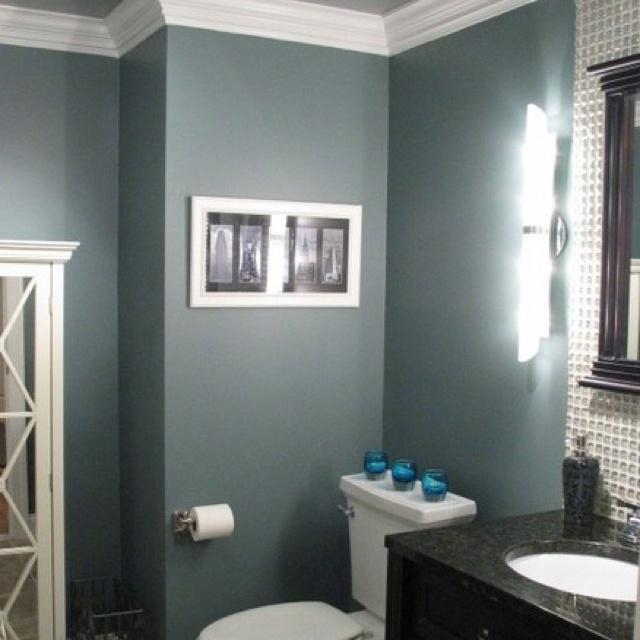 Blue Gray Bathroom Love This Color Paint Schemes