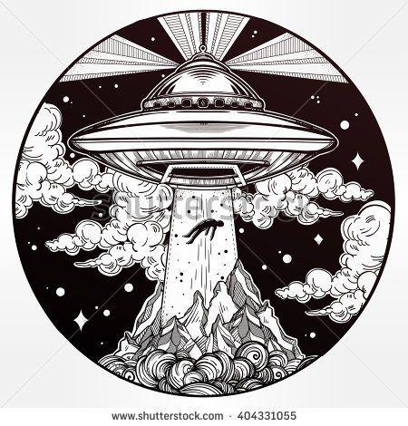 Best 288 UFO Tattoos Art images on Pinterest Tattoos