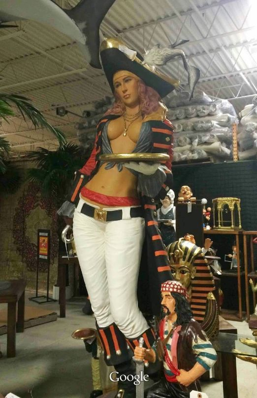 Pirate Girl Life Size Statue Figure Hand Finished 6 TALL
