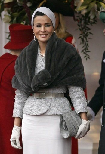 17 Best Images About Style Icona Sheikha Mozah Bint Nasser Al Missned Of Quatar On Pinterest