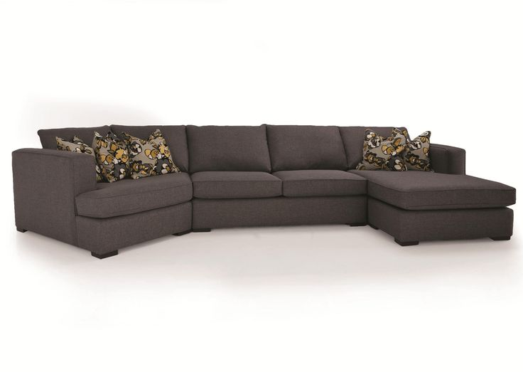 Decor Rest 2900 3 Piece Contemporary Sectional With LHF