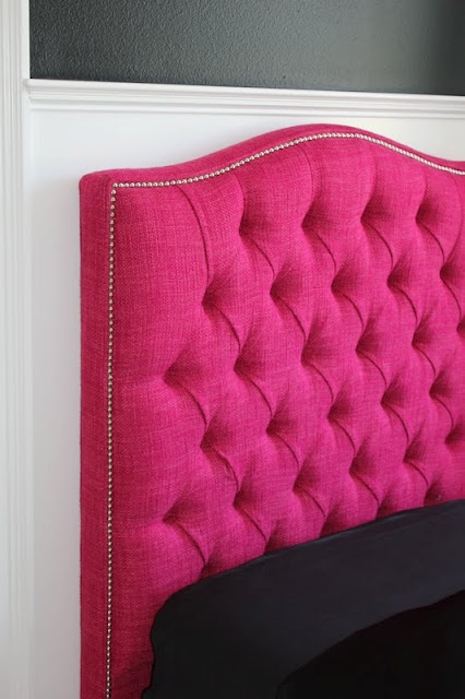 Hot Pink Tufted Headboard Its So Cute Tufted Headboards Pinterest Tufted