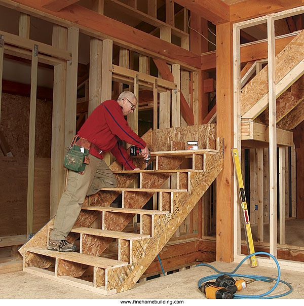 framing stairs with a landing an l shaped staircase is on construction wall structure general info id=66818