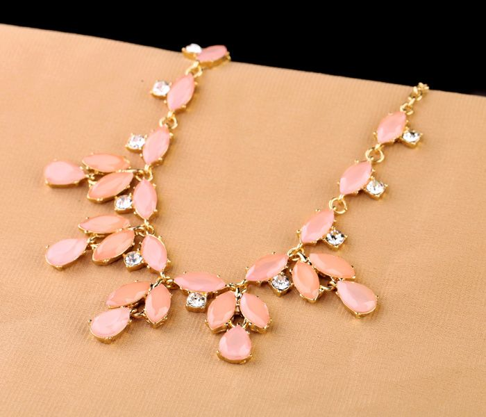 Light Salmon Alloy Necklace