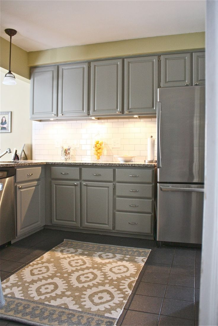 kitchen make over love the grey cabinets and white subway tile the yellow cape cod home on kitchen ideas yellow and grey id=25965
